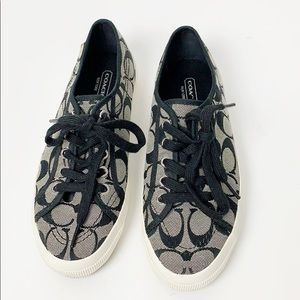 Coach Kalyn Sneaker in signature black and white